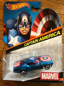 Marvel Avengers Comic Heros Hot Wheels 1//64 Character Car Captain America NEW