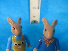 Playmobil figures SET OF TWO BOY BUNNIES in different clothes
