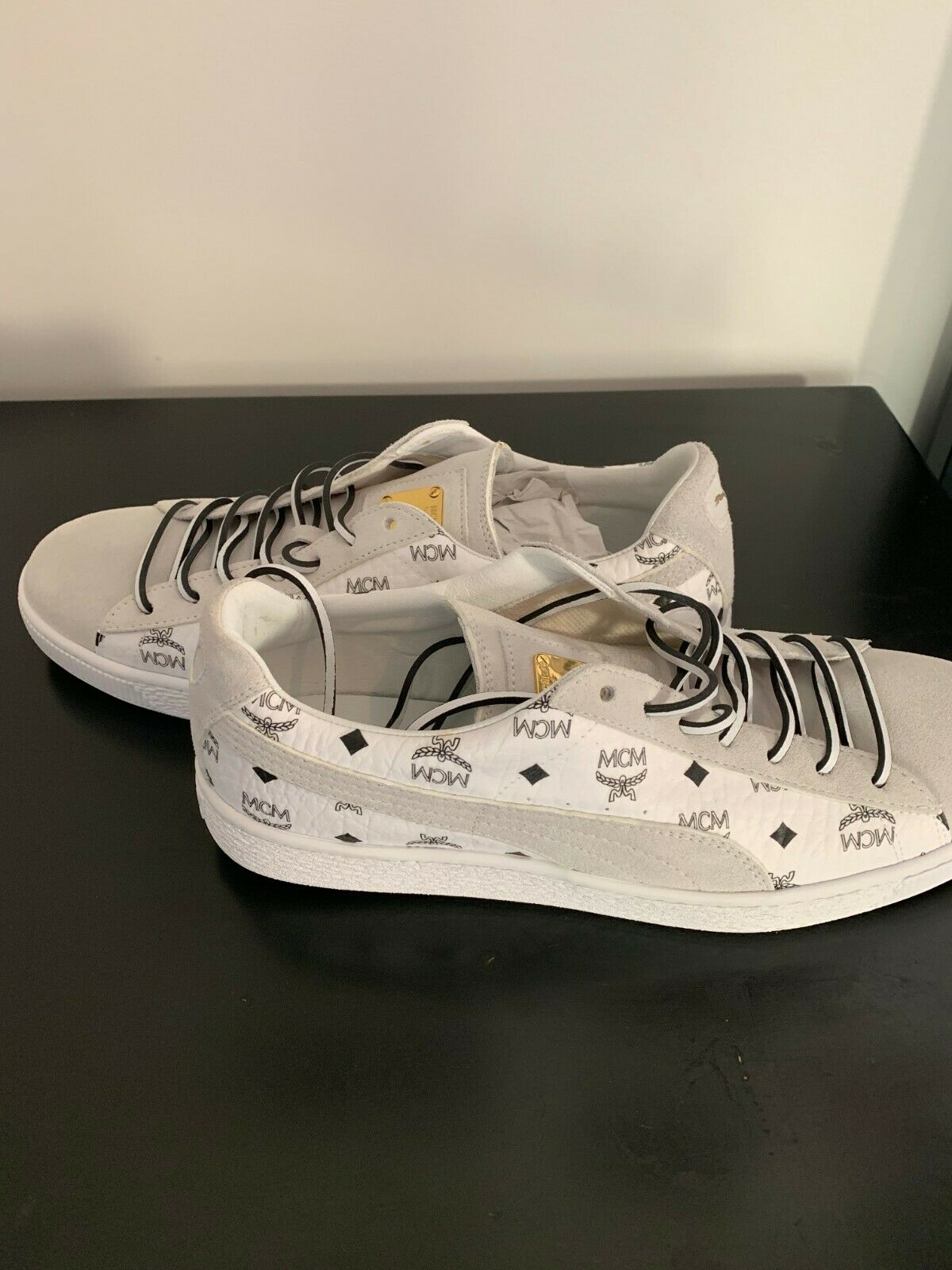 Men's PUMA Suede Classic x MCM White shoes BRAND NEW Size US 10.5