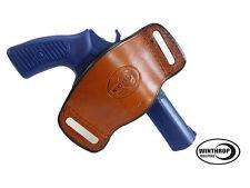 Taurus 85 - 2 barrel Ambidextrous OWB Belt Slide Leather Holster Brown
