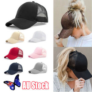 AU-Ponytail-Baseball-Cap-Women-Messy-Bun-Baseball-Hat-Snapback-Sun-Sport-Cap-Hot