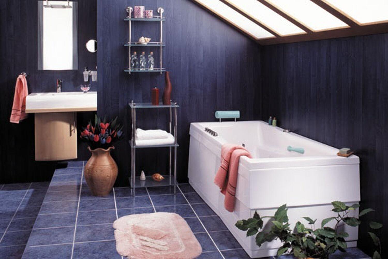 Badewanne 170x75 cm + Füße + Schürze L + Ablauf + Befestig.-Set 75x170 komplett