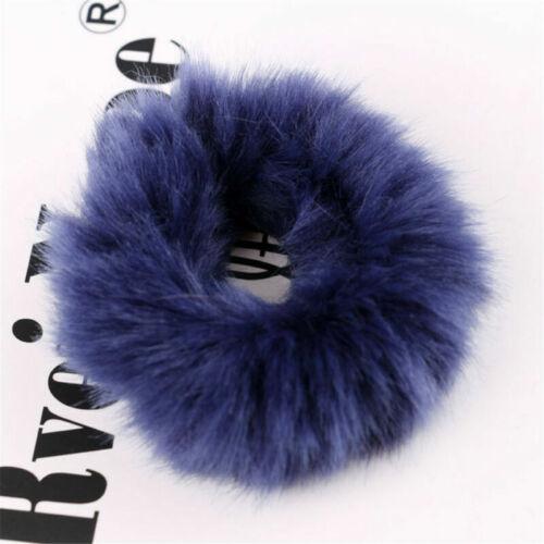 1PC Soft Fluffy Faux Fur Fuzzy Scrunchie Elastic Hair Ring Rope Hair Accessories