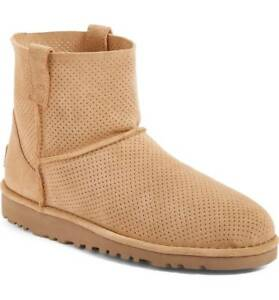 c482cb882ca Details about NEW WOMENS UGG CLASSIC UNLINED MINI PERF BOOTS TAWNY TAN NIB  Size 7
