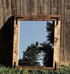 ручной работы деревенский зеркало 24x30 для ванной зеркало