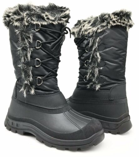 New Women Snow Boots Weather Proof Water Resistant Side Zipper Fur Lined Else