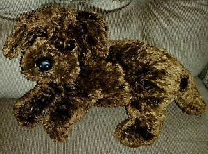 Ty Classic NUZZLE Puppy Dog Dark Brown Chocolate Labrador Fuzzy Plush 2001 Clean