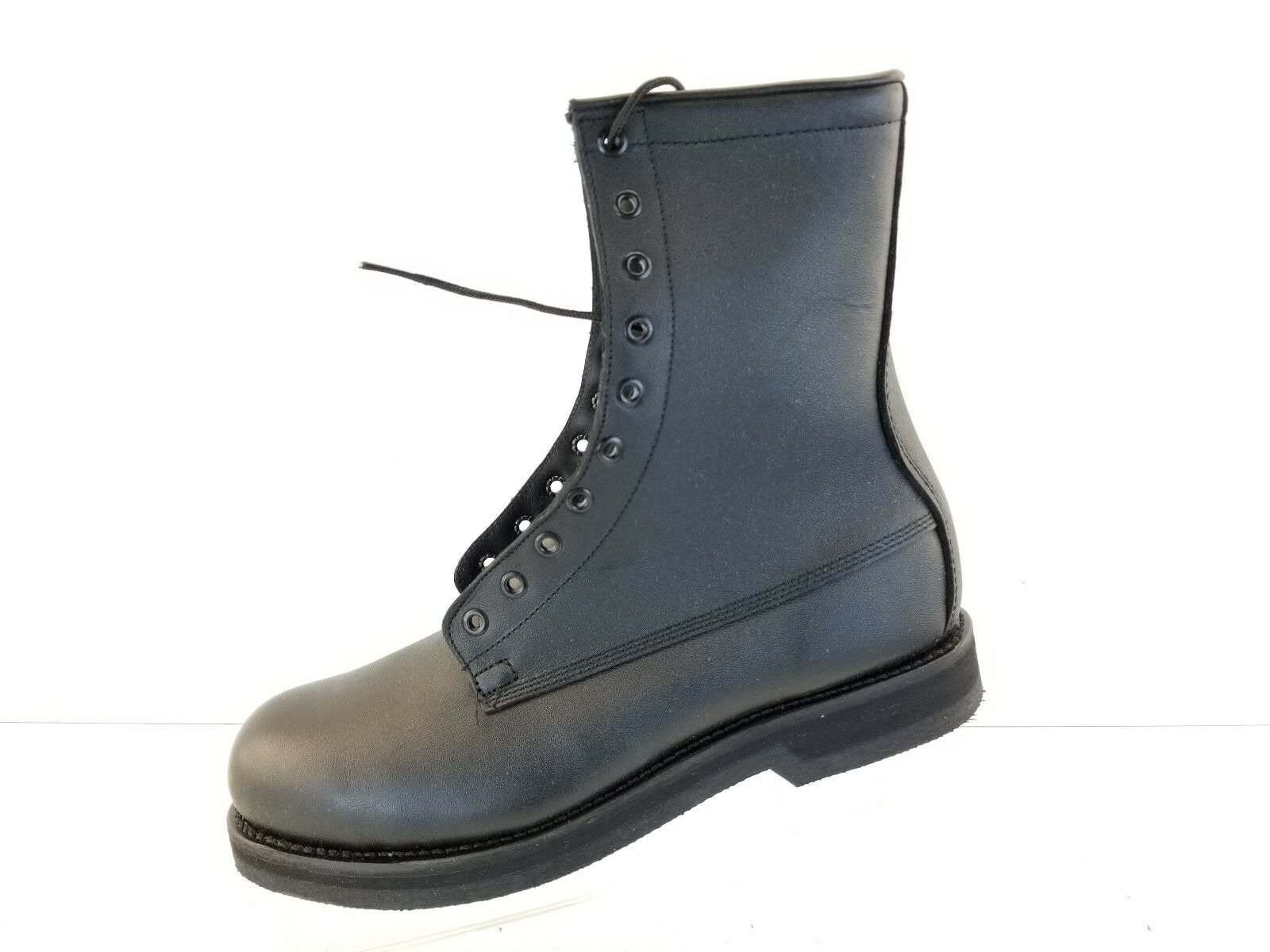 Vtg ADDISON STEEL TOE MILITARY COMBAT Blk LACE ARMY MOTORCYCLE LACE Blk UP BOOTS SZ 10.5R 822e69