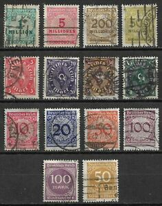 GERMANY-Weimar-Republic-1921-1923-Deutsches-Reich-Collection-USED-Lot-CV-52