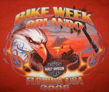 Harley Davidson Motocycles Orlando Florida FL T-Shirt mens Large L Bike week 06