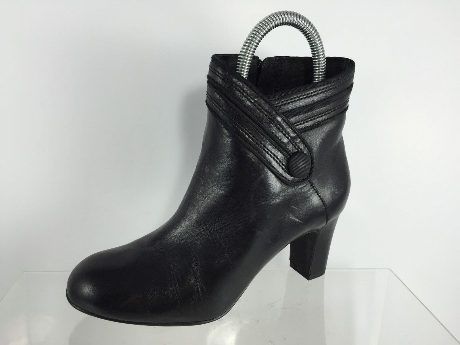 Clarks Clarks Clarks Womens Black Leather Ankle Boots 5.5 M 6bd41e