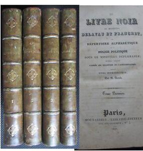 Le-livre-noir-de-messieurs-Delavau-et-Franchet-Police-restauration-Vidocq