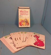 "1981 Walt Disney Productions Whitman ""The Fox And The Hound"" Giant Card Game"