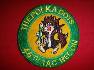 Vietnam-War-USAF-45th-Tactical-Reconnaissance-Squadron-THE-POLKA-DOTS-Patch