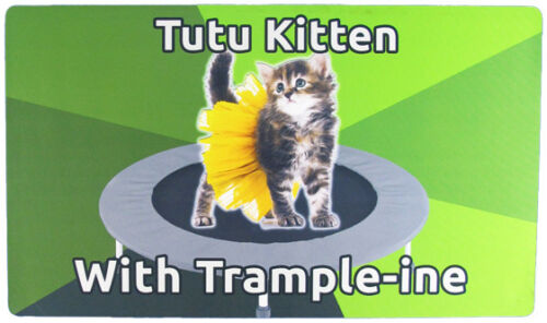 Tutu Kitten With Trample-ine Meme Playmat Custom GAMING SUPPLY BRAND NEW