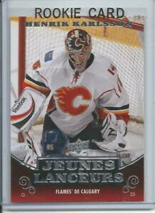 2010-11-Upper-Deck-UD-Young-Guns-Henrik-Karlsson-Rookie-Card-RC-209-Mint-French