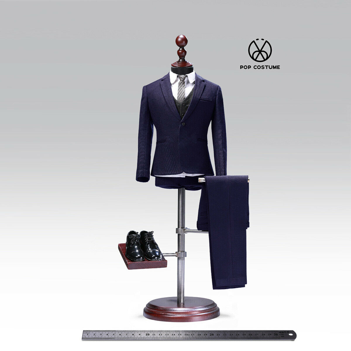 POPTOYS POP-X27-B 1 6th Male Clothes Suit For 12 12 12  Action Figure Hot Toys bluee 5f21b1