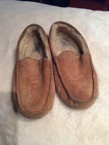UGG Australia ASCOT 5775 Men's Chesnut Suede Sheepskin Lined Slippers 12 M