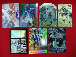 EMMITT-SMITH-7-DIFF-FOOTBALL-CARDS-DALLAS-COWBOYS-MUST-SEE-GREAT-CONDITION
