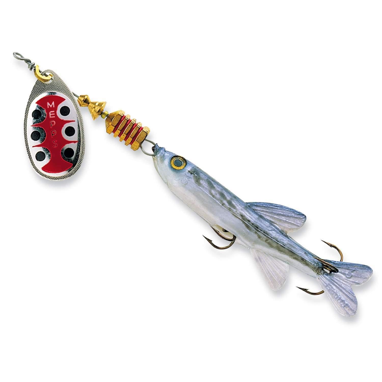 Genuine Mepps Aglia TW with Fish Silver Art Bait Spinner Flasher