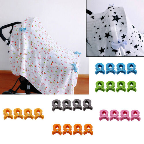 Universal Buggy Clasp Pram Clips Stroller Hooks Push Chair Car Seat DS