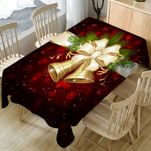 Noel-Nappe-rectangle-Table-de-salle-a-manger-Housse-en-Tissu-Xmas-Party-Decoration-Maison