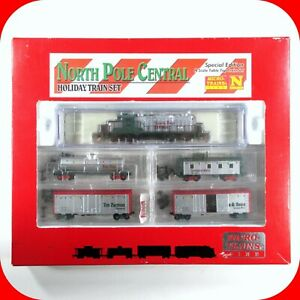 N-Scale-NORTH-POLE-CENTRAL-Christmas-Holiday-Train-Set-MICRO-TRAINS-Special-Run