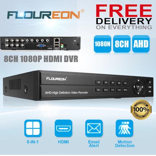 5 In 1 8CH DVR CCTV Camera Night Vision HDMI Security Video Recorder Cloud AHD