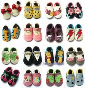 Details about New Soft Sole Leather Baby Infant Toddler Boys Girls Shoes Prewalker Size 0,1,2