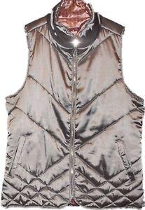 Kensie Opal Gray Reversible Vest Jacket Women's Size Medium New