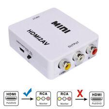 Mini Composite 1080p HDMI to RCA Audio Video AV CVBS Adapter Converter for TV