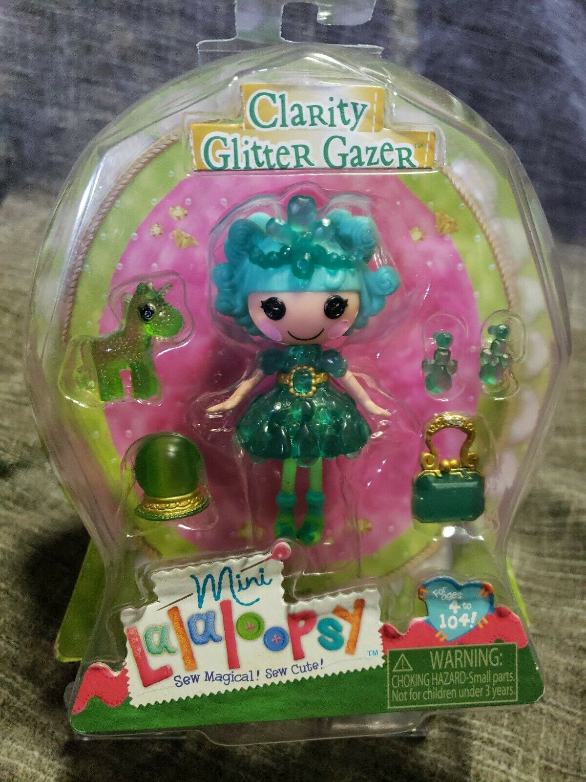 Lalaloopsy Mini, Clarity Glitter Gazer, 4  Doll, She Sees the Future - New, NWB