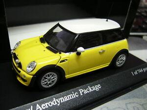 MINI-One-New-Mini-BMW-Aero-Package-yellow-gelb-2002-Minichamps-PMA-1-43