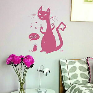 Cartoon-Cat-amp-Mouse-House-Cat-Transfer-Stylish-House-Cat-Wall-Sticker-CA25