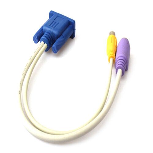 15-Pin Sub-D VGA SVGA to TV RCA S-Video S Video Cable Adapter ConverterODUS