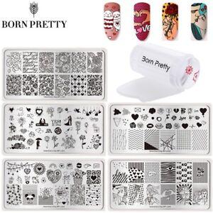 3Pcs-Set-Nail-Art-Stamping-Plates-Stamper-Scraper-Valentine-039-s-Day-Stamp-Template