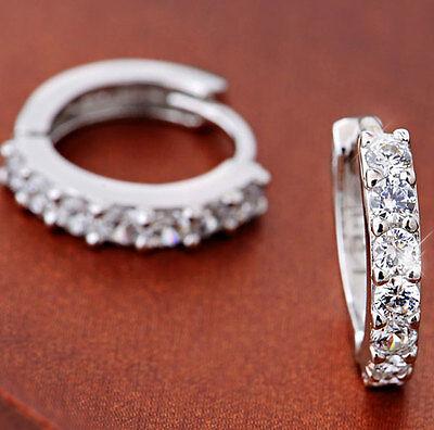 Jewelry White Topaz Gemstones Sterling silver Hoop Earrings Stud Rafting 2016
