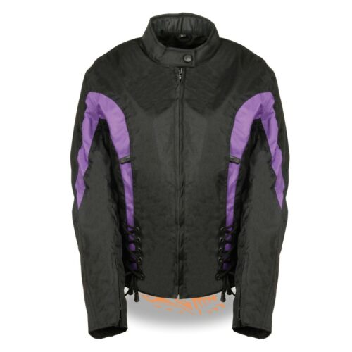Milwaukee Leather Women/'s Nylon Jacket W// Side Stretch /& Lacing **SH2188
