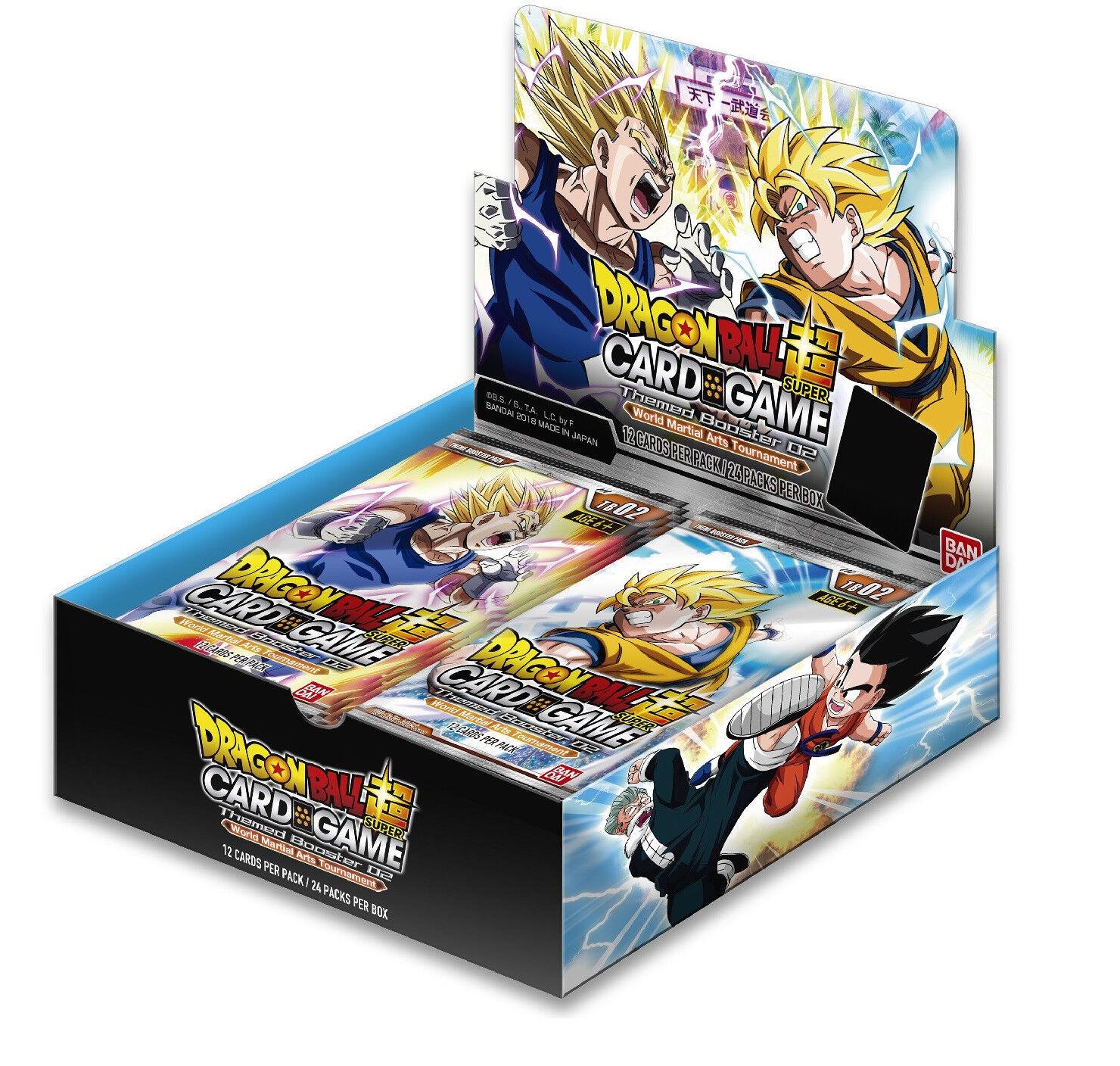 Dragon ball super kartenspiel - welt - turnier mit booster box 02