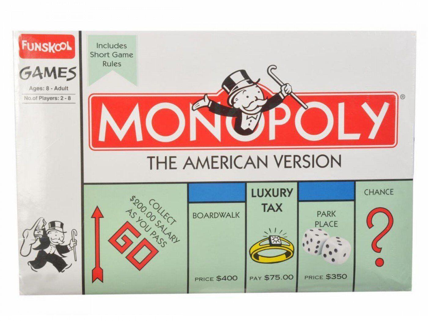 Versión en América Funskool monopolio