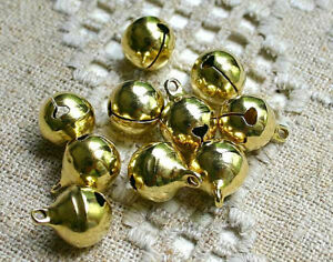 Lot-20-Pieces-Cloche-Dore-11mm-x-8mm-grelots-Metal-Dore-Clochette-Jingle-Bell