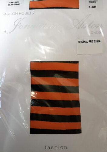 Yellow One Size Orange White Jonathan Aston Ringer Tights Black Purple