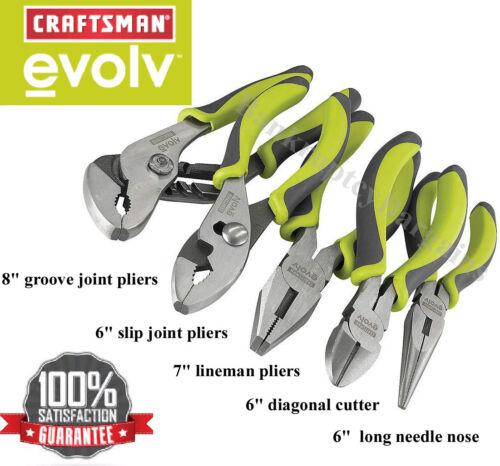 New Craftsman Plier Set Lineman//Long Needle Nose//Cutter//Channel Groove Slip Lock