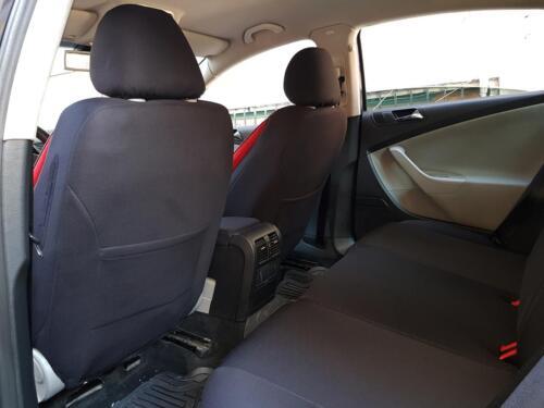 Sitzbezüge Autositzbezüge für VW Caddy schwarz-rot NO2563704 Set