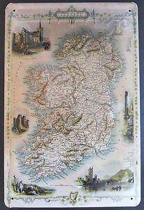 Irlanda-Mapa-Letrero-de-metal