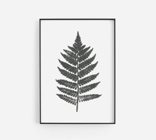 Vintage Leaf Decorative Home Stylish Abstract Gallery Wall Art Poster Print Gift