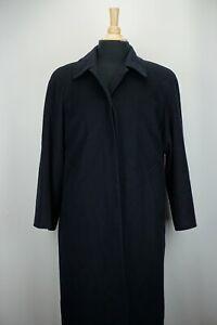 Riccardo-Piacenza-100-Cashmere-Solid-NAvy-Blue-Womens-Dress-Overcoat-Sz-4