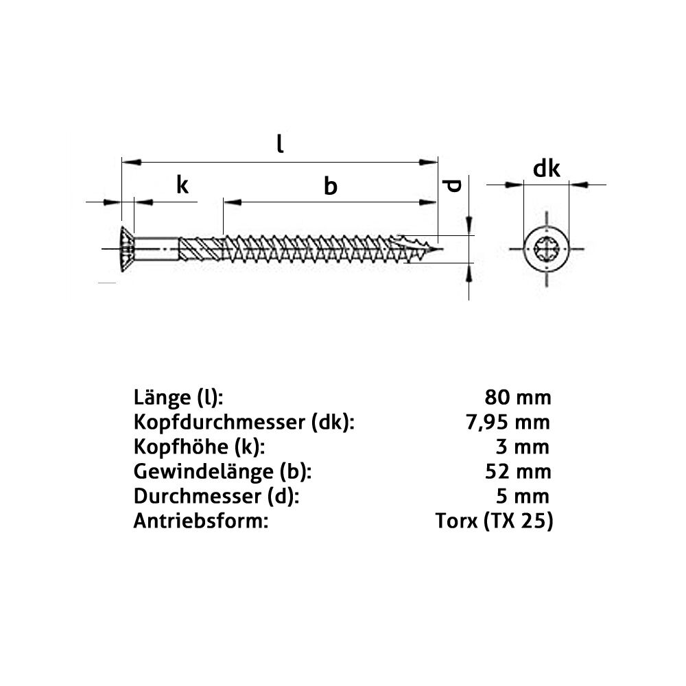 Terrassenschraube T-INOX C1 plus plus plus 1-4x Wera Bit, Terrassenschrauben martensitisch | König der Quantität  e32d7b
