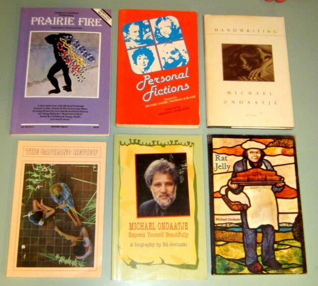 6 Book MICHAEL ONDAATJE Interviews Poetry RUNNING IN FAMILY Ceylon Leonard Cohen