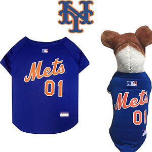on sale 3a64c 62073 Details about MLB Fan Gear NEW YORK METS Dog Jersey Dog Shirt for Dogs BIG  SIZE XS-2XL